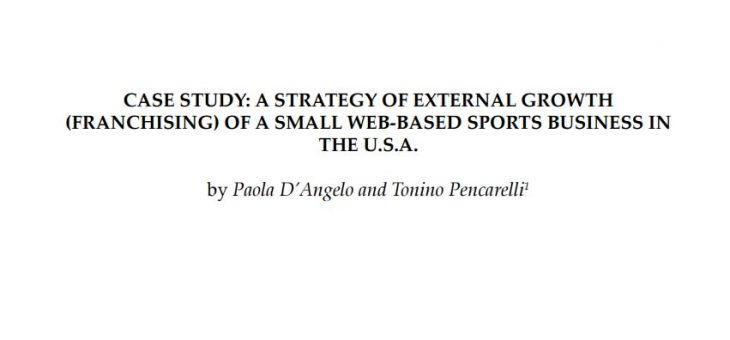 A strategy of external growth of a small web-based sports business in the U.S.A.